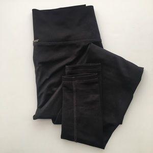 Mika Yoga Wear Black Leggings Full Length Size S